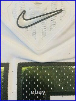 Nike Oregon Ducks Vapor Fusion Nightmare Green Team Issued Game Worn Jersey