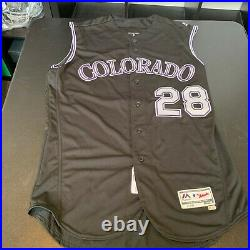Nolan Arenado Signed Colorado Rockies Game Issued Jersey JSA COA & MLB
