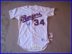 Nolan Ryan 1990 Game Issued used Texas Rangers 34 Jersey Signed RARE JSA