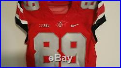 Ohio State # 89 Game Issued Rivalry Jersey Size 44
