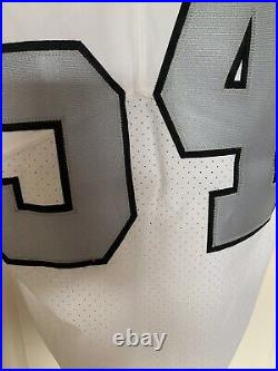 Oakland Raiders Game Issued Color Rush Jersey sz 42