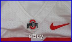 Ohio State Buckeyes #70 Game Issued Possibly Game Used White Jersey