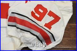 Ohio State Buckeyes Game Issued Nike #97 Bosa Authentic Cut Jersey Very Rare
