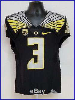 Oregon DUCKS Team Issued NIKE 2015 FOOTBALL GAME JERSEY #3 MEN'S 38 S