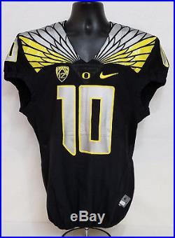 Oregon DUCKS Team Issued NIKE 2015 FOOTBALL JERSEY Game Worn #10 MEN'S 40 M