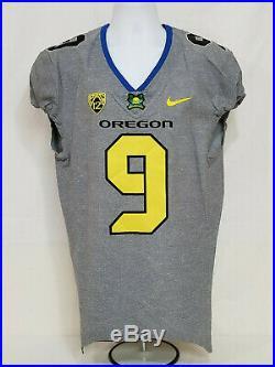 Oregon DUCKS Team Issued NIKE 2016 FOOTBALL JERSEY Game Worn #9 MEN'S 40