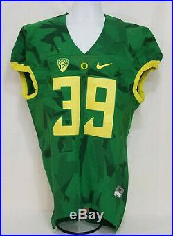 Oregon DUCKS Team Issued NIKE Game Worn CAMO FOOTBALL JERSEY #39 Apelu MEN'S 42