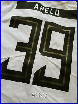 Oregon DUCKS Team Issued NIKE Game Worn FOOTBALL JERSEY #39 Apelu MEN'S 40