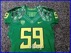 Oregon Ducks Game Football Jersey Authentic Nike Team Issued Size 44