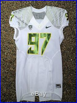 Oregon Ducks Game Football Jersey Authentic Nike Team Issued Size 46