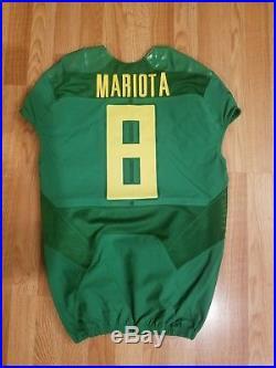 Oregon Ducks Marcus Mariota Rose Bowl Team Issued Game Jersey Un Worn Used 2015