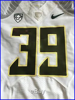 Oregon Ducks Recent Issue Nike Road White Football Game Jersey