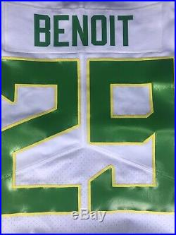 Oregon Ducks Team Issued Game Jersey MEN OF OREGON #29 BENOIT Size 42