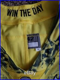 Oregon Ducks Team Issued Yellow Game Jersey Not Worn Benoit