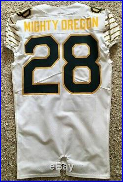Oregon Ducks Team-issue Webfoot Nike Game Throwback Jersey 2016 #28 Size 40