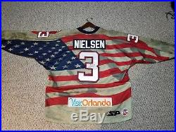 Orlando Solar Bears Carl Nielsen Game Issued! Hockey Jersey ECHL Patriotic USA