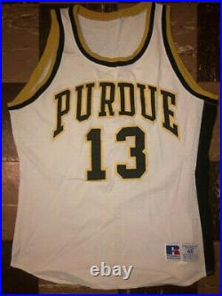 PURDUE Vtg 1990s RUSSELL ATHLETIC Jersey Team Issue Game Worn Glenn Robinson 48