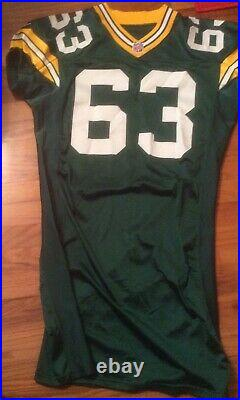 Packers 2000 Game Worn/ Issued Jersey, No 63 (Raleigh McKenzie)