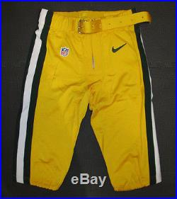 Packers Aaron Rodgers 2014 Green Nike Game Cut Issued Jersey + Team Issued Pants