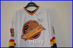 Pavel Bure #96 Signed Game Issue Vancouver Canucks Jersey Size 52 COA Fight