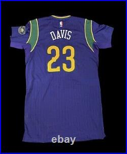 Pelicans Mardi Gras Anthony Davis Game Jersey Use Issue Worn Lakers Champion NBA
