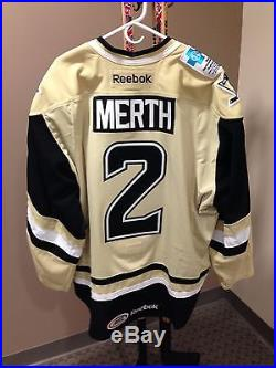 Peter Merth Wilkes-Barre/Scranton Penguins 2013-14 Game-Issued Alternate Jersey
