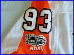 Philadelphia Flyers ADIDAS GAME ISSUED Worn Voracek Jersey sz 54 Made in Canada