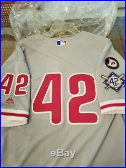 Philadelphia Phillies 2018 Jackie Robinson Day Game Issued/used Jersey
