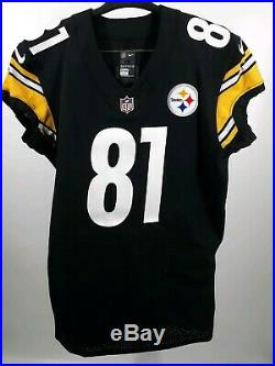 Pittsburgh Steelers Game Issued Jesse James Jersey 2018 Psa/dna