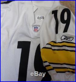 Pittsburgh Steelers Team Issued Jersey 2002 Steelers Game Jersey #19 Ju-ju
