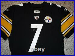 Pittsburgh Steelers Team Issued Jersey Ben Roethlisberger Authentic Game Jersey