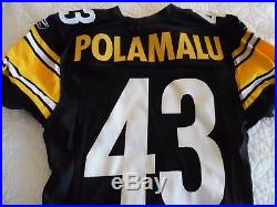 Pittsburgh Steelers Team Issued Jersey Troy Polamalu 2011 Size 42 Game Jersey