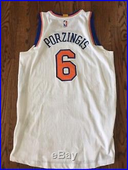 Possibly Game Worn Issued Pro Cut New York Knicks Kristaps Porzingis Jersey