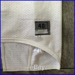 RARE Miami Hurricanes #39 Game Used Issued ACC Football White NCAA Jersey 40