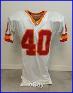 RARE Mike Alstott Team-Issued Signed 1996 Rookie Season Game Jersey Buccaneers