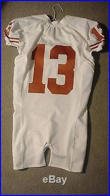RARE Nike Texas Longhorns Football Jersey Game Issued 2009 #13 sz 42