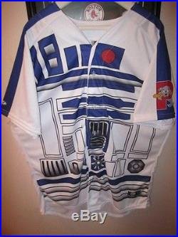 RARE Portland Sea Dogs Game Issued 2015 Star Wars R2-D2 Authentic Jersey Red Sox