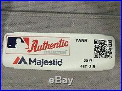ROBERTSON #30 sz 46 2018 Yankees Game Jersey issued ROAD POST SEASON MLB STEINER