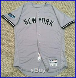 ROMINE #28 size 44 2018 Yankees Game Jersey issued ROAD POST SEASON MLB HOLO