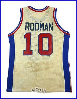 Rare 80's Dennis Rodman Detroit Pistons Rookie Era Vintage Game Issued Jersey
