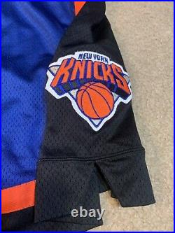 Rare Game Issued Starter #42 New York Knicks Jersey Shorts Sz 40 1990s Mills