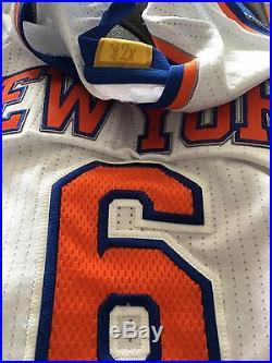 Rare Kristaps Porzingis New York Knicks Game Issue Procut Home Game Jersey