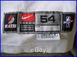 Rare Shawn Kemp 2001 Portland Trailblazers Game Worn NBA Issued Jeresy COA White