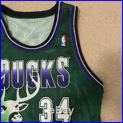 Ray Allen Milwaukee Bucks Starter Jersey Game Issued Sz 42 L +2 Big Deer Giannis