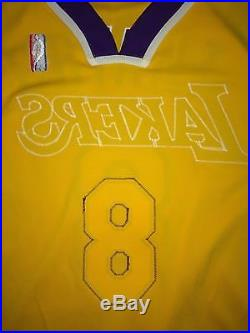 Reebok 2004-05 Kobe Bryant Los Angeles Lakers Game Issued Signed Jersey 56+4