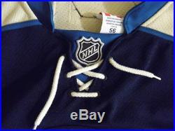 Reebok Authentic Columbus Blue Jackets Ryan Johansen game issued worn jersey 56