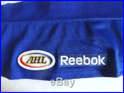 Reebok Connecticut Whale Whalers Game Issued Jersey Eminger Sandy Hook Patch NYR