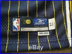Reggie Miller Indiana Pacers 2003/04 Game Issued Jersey 44 4 Reebok