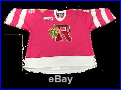 Rockford IceHogs Evan Mosey Game-Issued Pink in the Rink Jersey