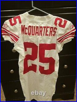 Rw mcquarters team issued super bowl jersey sb 42 game ny giants coa r. W. Ny nfl
